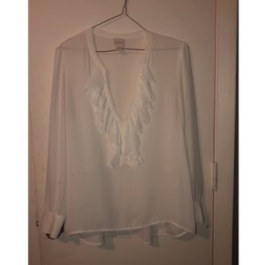 Sheer CHICOS white blouse